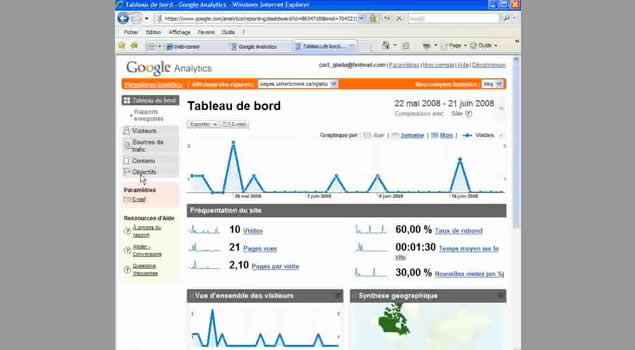 Google analytics 1- survol_invitme