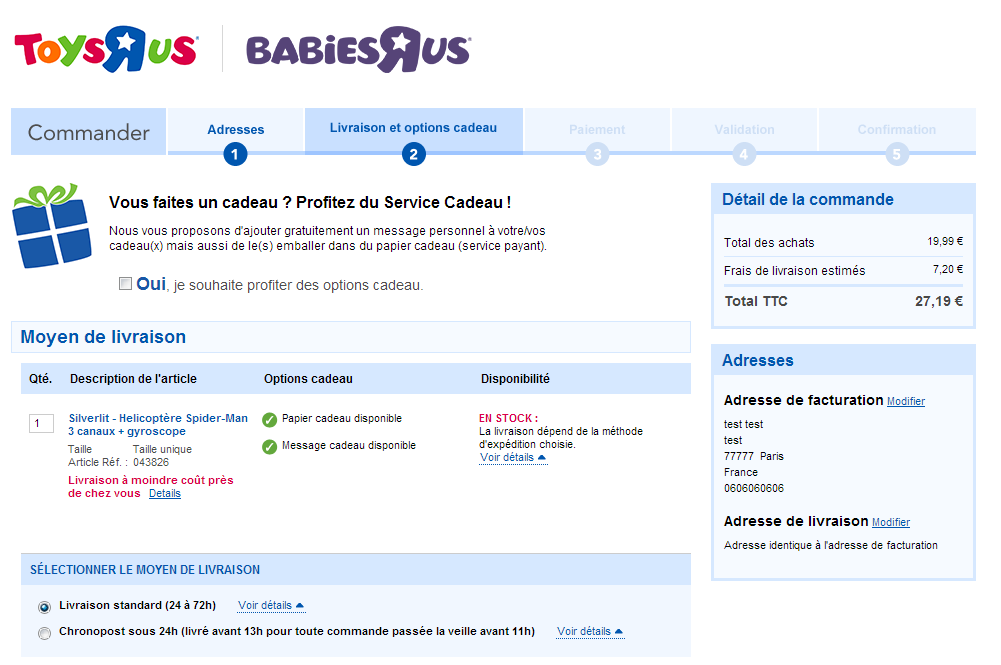 chechout exemple resume persistant Toys R Us